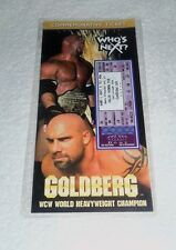 WCW : Goldberg Large Commemorative Ticket Limited Edition 10,000 New + Holder