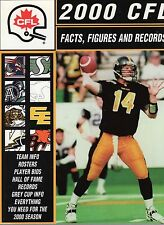2000 Canadian Football League Cfl Facts,Figures+Records Amazing Condition