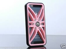 Pink Luxury Sports Racing Car Rim with Rubber Tread Tire Sides Case iPhone 5 5S