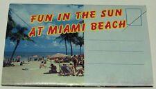 **Miami Beach** postcards vintage fun in the sun 12 attached scenes early 70's