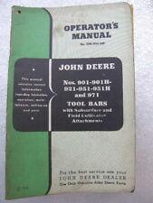 John Deere 901 901H + Tool Bars Series Manual Tractor