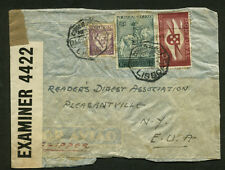 "WWII Cunsored  Cover From Portugal to New York Via ""Clipper"""