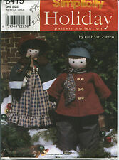 S 8415 sewing pattern Christmas CAROLER DOLLS & CLOTHES sew craft boy girl UNCUT