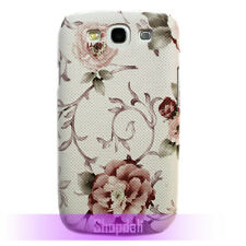 Rose Floral Pattern Design Hard Case Cover for Samsung Galaxy S iii 3 S3 i9300