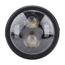 LED Motorcycle Headlight Front Light Black Headlamp 12V