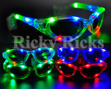 12 Pcs Rave Led Glasses Flashing Sunglasses Futuristic Light Up Shades Party Edc