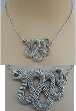 Silver Snake Pendant Necklace Jewelry Handmade NEW Accessories Fashion