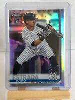 2019 topps chrome THAIRO ESTRADA (rookie) baseball card #28 *Yankees*