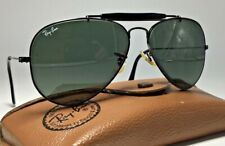 Ray-Ban Aviator Outdoorsman Black 58mm sunglasses Bausch Lomb B&L Leather case