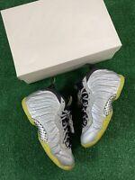 Nike Little Posite GS 'Silver Camo' Size 6.5 Silver/Green 644791-001