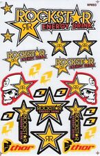 New Rockstar Energy Motocross Racing Graphic stickers/decals. 1 sheet (st97)