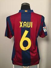 Xavi #6 Barcelona Hogar Camiseta De Fútbol Jersey 2007/08 (L)