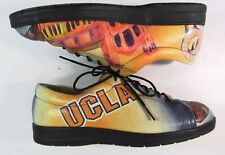 ICON Los Angeles Golf Walking Shoes UCLA Bruins Yellow Blue Leather Women's 5