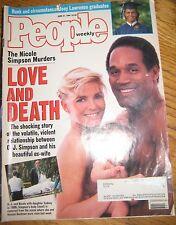 People Magazine June 27, 1994 Nicole Simpson Murders LOVE AND DEATH