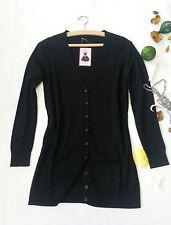 Damen Jacke Cardigan Strickjacke Pullover Pulli Lang Gr. 34-44 Neu