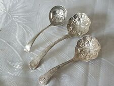 2 Kings Pattern Sauce Spoon Silver Plated & Strainer Spoon EPNS