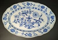 """Meissen Crossed Swords - Blue Onion - Oval Serving Platter -18"""" by 12-3/4 inches"""