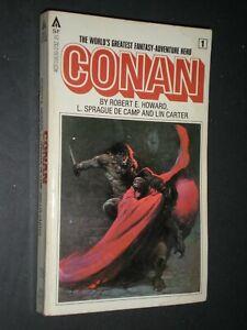 CONAN Book 1 by Robert E Howard L Sprague De Camp Lin Carter FRAZETTA ART vtg PB