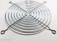 120mm Chrome Metal Computer PC Silver Fan Grill Mounting Finger Guard Protection