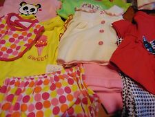 #8) Lot of 9 New pieces of 3/6 6/9  months Toddler Girl Clothing 3 Cute outfits
