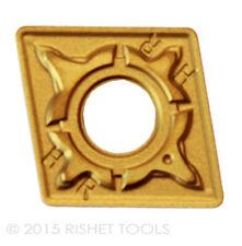 RISHET TOOLS CNMG 432 C5 Multi Layer TIN Coated Carbide Inserts (10 PCS)