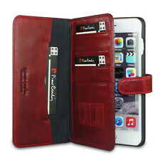 Pierre Cardin Flip Leather Wallet Card Case Cover Pouch for Apple iPhone 6 Plus
