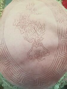 Brand New Hand Made Chinese DRAGON 100% Wool Rug OVAL 5X3FT  PINK