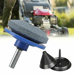 Mower Blade Balancer & Sharpener Set For Lawn Mower Tractor Garden Tools