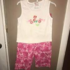 Disney Store Girls Size XS (4/5) Ariel Tank Top and Pink Floral Pants