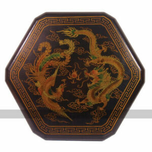 Chinese Checkers in Leatherette Box (Dragon and Phoenix Design)