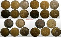 Great Britain George V Bronze LOT OF 11 COINS 1912-1922 1/2 PENNY  KM# 809