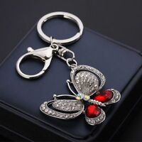 Purse Crystal Chain Charm Rhinestone Lovely Keychain Pendant Key Ring Keyring