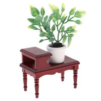 1/12 Dollhouse Miniature Accessories End Table Plants Pot Room Garden Decor