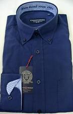 Unifarbene klassische Herrenhemden mit Button-Down-Kragen aus Baumwolle CASAMODA