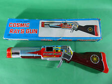 Shudo cosmic rays Gun chapa/tinplate japón 1960's - 33cm-Space Toy