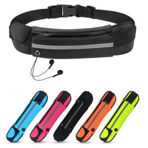 Waterproof Sport Zip Waist Belt Bum Bag Pouch Running Fanny Pack for Cellphone