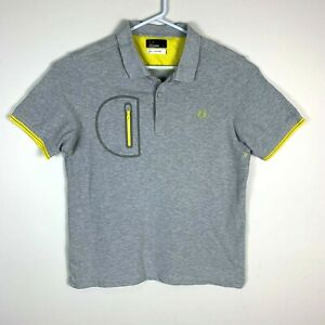 Fred Perry Premium Grey Polo Shirt Size Men's XL (Fits Like Medium)