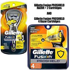 NEW Gillette Fusion ProShield Men's Flexball Razor, 6 Cartidges 100% AUTHENTIC