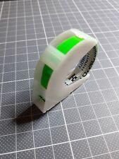 Vintage - Rouleau DYMO Embossing Tape 6 mm vert fluo - 3 mètres de long
