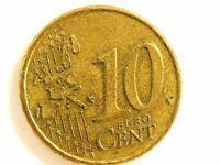 2001 Netherlands Ten (10) Euro Cent Coin