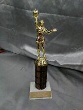 "Female Basketball trophy award marble base 11"""