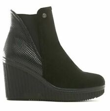 New ladies women wedge ankle boots size  8 black