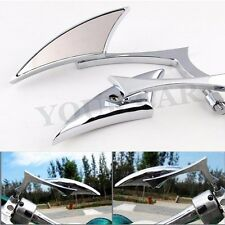 CHROME SPEAR BLADE MOTORCYCLE CRUISER CHOPPER BOBBER REAR MIRRORS 8MM 10MM US