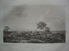 Grande gravure du Siège d' ATH Aat  Ate du 2 au 8 octobre 1745