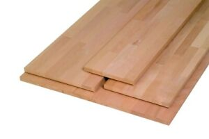 Massivholzplatte Buche, Oberfläche geschliffen, keilgezinkt 800 x 200 x 18 mm