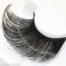 Quality long thick black fake false faux eyelashes reusable makeup extension