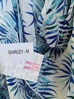 NWT LuLaRoe Hawaiian Tropical Palm Fronds Shirley Coverup Overlay Chloe Black M