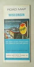 1968 Wisconsin  road map Farmers Union Central Exchange Co-Op  oil gas