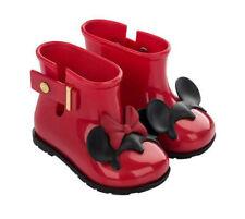 Mini Melissa Sugar Disney Twins Girls PVC Minnie & Mickey Rain Boots  Sz 10  $77