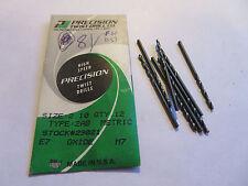 8 pcs Precision Twist Drill PTD 2.10 Metric 2.10MM Jobber Drills 29021 USA